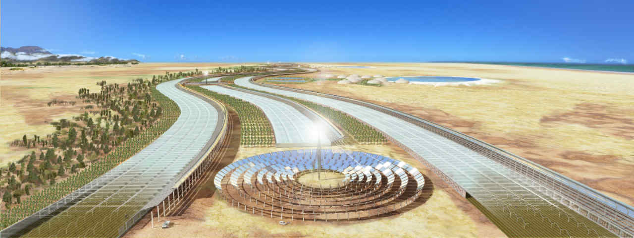 Sahara Forest Project vision illustration