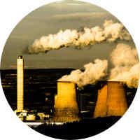 Air pollution stacks